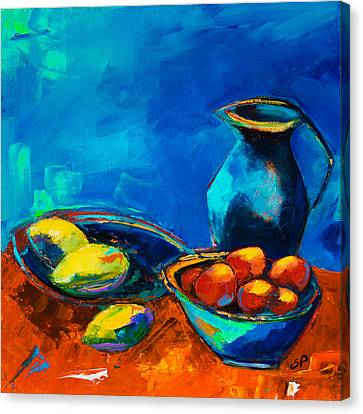 Fruit Palette Canvas Print by Elise Palmigiani