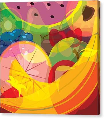 Fruit Salad Canvas Print by Ashley King