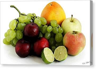 Fruit Salad Canvas Print by Cole Black