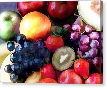 Fruit Salad Canvas Print by Elaine Plesser