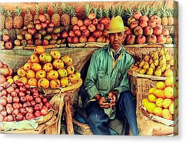 Fruit Seller Canvas Print by Heidi Yanulis