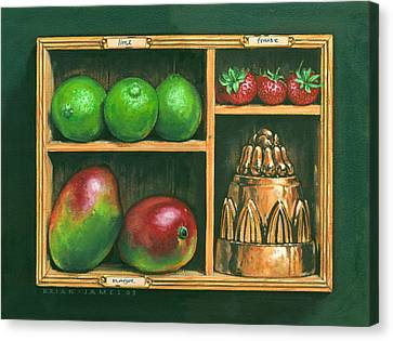 Fruit Shelf Canvas Print by Brian James