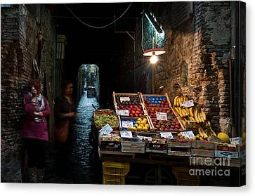 Fruit Stall Canvas Print by Marion Galt