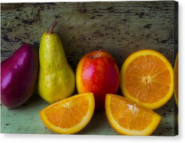 Fruit Still Life Canvas Print by Garry Gay