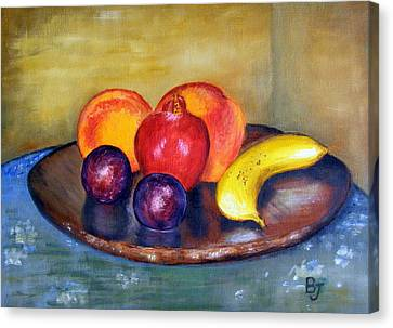 Fruit Still Life Painting Canvas Print