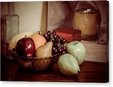 Fruit With Painting Canvas Print