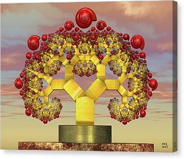 Fruiting Pythagoras Tree Fractal Canvas Print