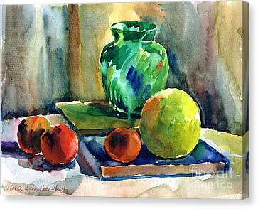 Fruits And Artbooks Canvas Print