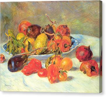 Canvas Print featuring the painting Fruits Of The Midi  by Renoir
