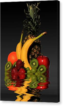 Fruity Reflections - Dark Canvas Print by Shane Bechler