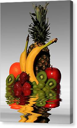 Fruity Reflections - Light Canvas Print by Shane Bechler