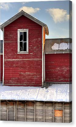 Ft Collins Barn 13496 Canvas Print by Jerry Sodorff