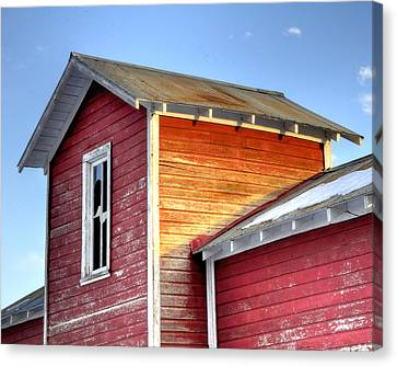 Ft Collins Barn 13502 Canvas Print by Jerry Sodorff