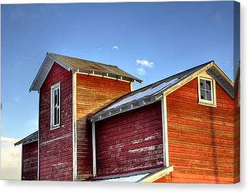 Ft Collins Barn Sunset 13505 Canvas Print by Jerry Sodorff