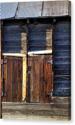 Ft Collins Barn Tin 13547 Canvas Print by Jerry Sodorff