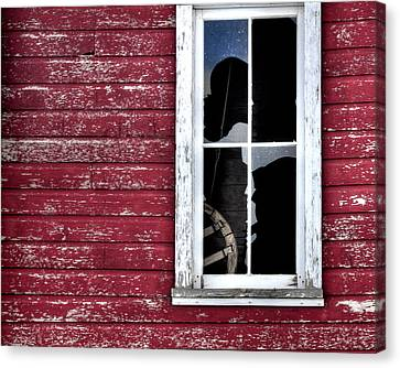 Ft Collins Barn Window 13568 Canvas Print by Jerry Sodorff