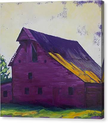 Fuchsia Barn Canvas Print by Kristin Whitney