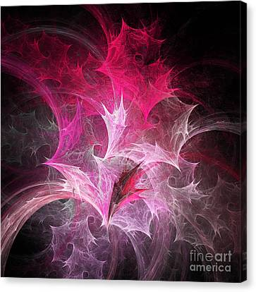 Fuchsia Fountain Abstract Canvas Print by Andee Design