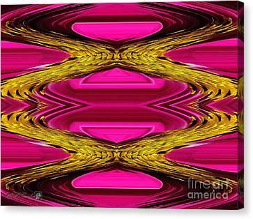 Fuchsia Sensation Zigzags Canvas Print by J McCombie