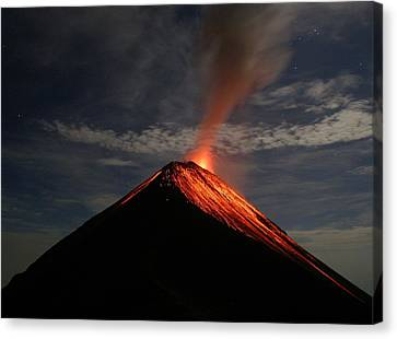 Fuego On A Moonlit Night Canvas Print by Kevin Sebold