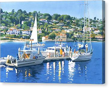 Fuel Dock Shelter Island San Diego Canvas Print by Mary Helmreich