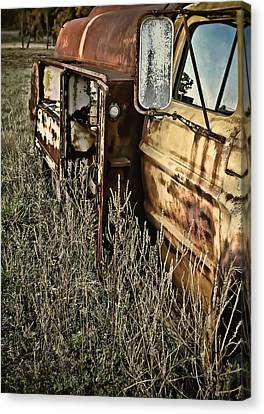 Canvas Print featuring the photograph Fuel Oil Truck by Greg Jackson