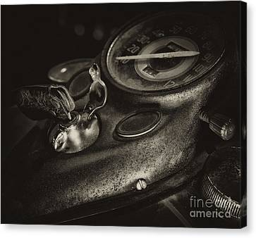 Fuel Tank Speedometer Ignition Switch Keys Canvas Print by Wilma  Birdwell
