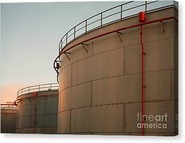 Fuel Tanks Canvas Print by Gaspar Avila