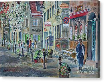Canvas Print featuring the painting Fuerth Gustavstrasse by Alfred Motzer