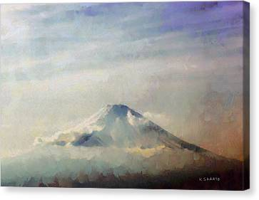 Fuji Among The Clouds Canvas Print by Kai Saarto