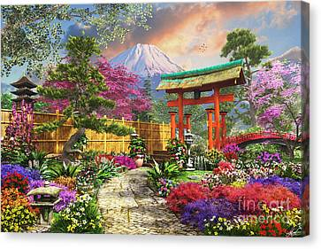 Pathway Canvas Print - Fuji Flora by Dominic Davison