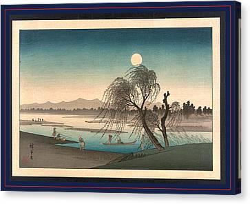 Fukeiga, Ando Between 1900 And 1940, From An Earlier Print Canvas Print by Utagawa Hiroshige Also And? Hiroshige (1797-1858), Japanese