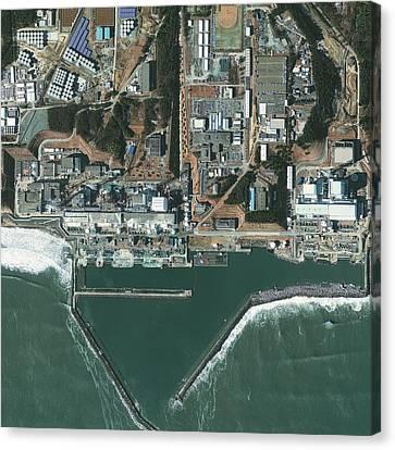 Fukushima Canvas Print - Fukushima Nuclear Power Plant, Japan by Science Photo Library