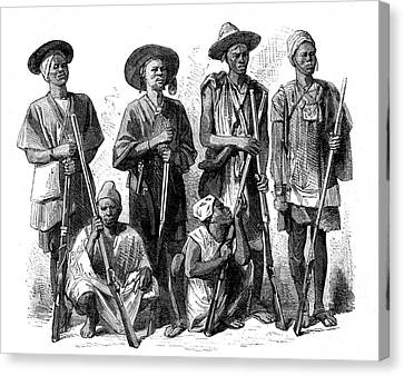 Senegal Canvas Print - Fula Hunters by Collection Abecasis