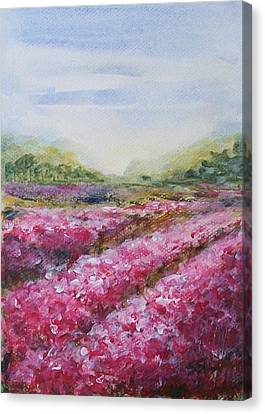 Canvas Print featuring the painting Full Bloom by Jane  See