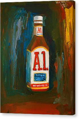 Abstract Expressionist Canvas Print - Full Flavored - A.1 Steak Sauce by Patricia Awapara