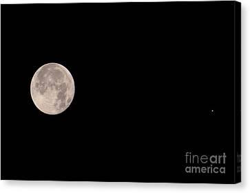 Galilean Moons Canvas Print - Full Moon & Jupiter by John Chumack