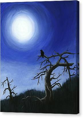 Scary Canvas Print - Full Moon by Anastasiya Malakhova