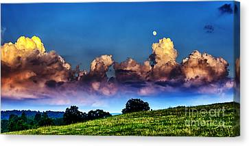Full Moon And Clouds Canvas Print by Thomas R Fletcher