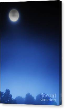 Full Moon And Fog Canvas Print by Thomas R Fletcher