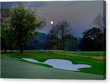 Full Moon At The Philadelphia Cricket Club Canvas Print by Bill Cannon