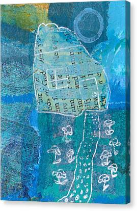 Canvas Print featuring the mixed media Full Moon by Catherine Redmayne