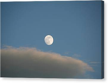 Canvas Print featuring the photograph Full Moon by David S Reynolds
