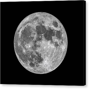 Canvas Print featuring the photograph Full Moon by Dennis Bucklin