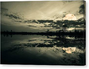 Full Moon Canvas Print by Jaroslaw Grudzinski