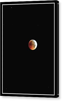 Canvas Print featuring the photograph Full Moon Lunar Eclipse by Kelly Nowak