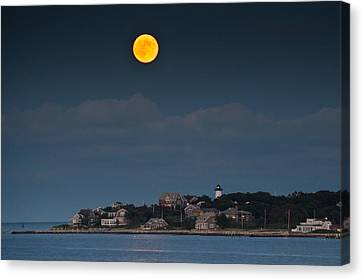 Full Moon Over East Chop Canvas Print