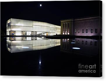 Full Moon Over Nelson Atkins Museum In Kansas City Canvas Print