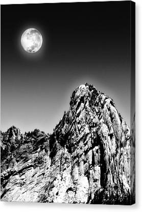 Full Moon Over The Suicide Rock Canvas Print by Ben and Raisa Gertsberg