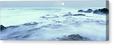 Full Moon Presides Over The Baja Canvas Print